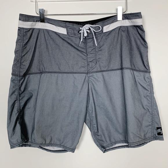 Billabong Gray Board Shorts sz 36 / L